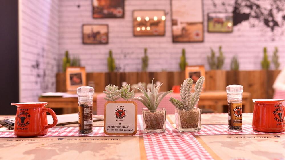Rodeo Produkte im Pop Up Restaurant